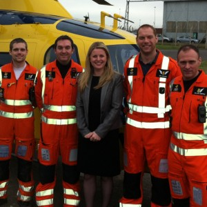With the Derbyshire, Leicestershire & Rutland Air Ambulance 2