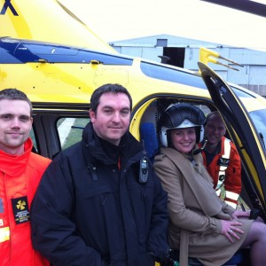 With the Derbyshire, Leicestershire & Rutland Air Ambulance