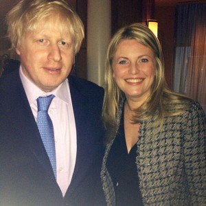 Emma McClarkin MEP with Boris Johnson
