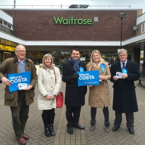 Emma campaigning with the South Leicestershire team in Blaby