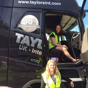 Emma with Helen Harrison PPC for Ashfield at Taylors Transport