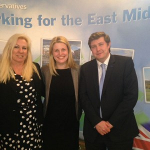 Emma with Amanda Solloway and Andrew Lewer