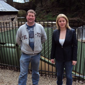 Emma with Mark Gadd at New Mills Hydro Station